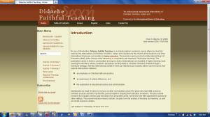 Didache Faithful Teaching
